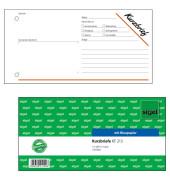 Kurzmitteilung Kurzbrief KF213 100 Blatt 1/3 A4 quer mit Blaupapier