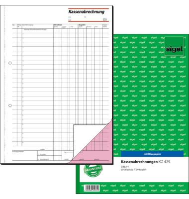 Kassenabrechnungsbuch KG425 A4 2x50 Blatt