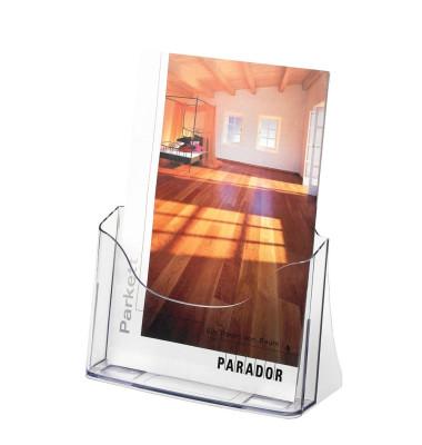 Tischprospekthalter 1 Fach A4 glasklar