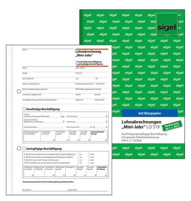 Lohn- und Gehaltsabrechnung LO519 A5-hoch 50 Blatt