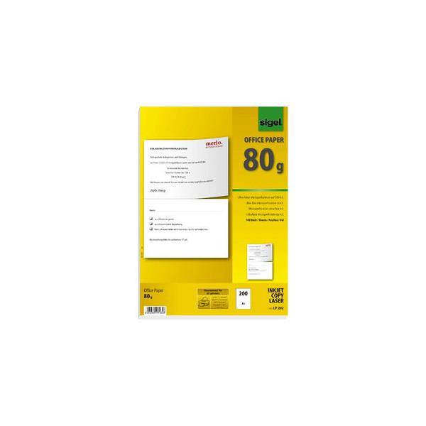 Sigel LP202 A4 auf A5 80g perforiertes Kopierpapier weiß 200 Blatt