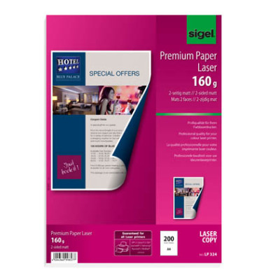 LP-324 Premium A4 160g Laserpapier superweiß 200 Blatt