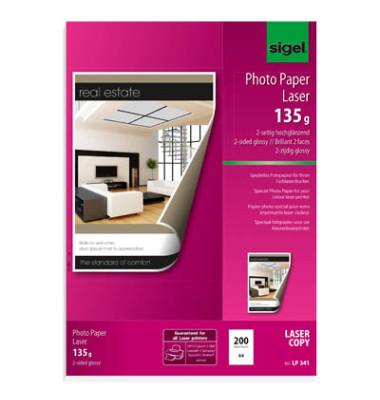 Laser-Fotopapier A4 LP-341 beidseitig glänzend 135g 200 Blatt