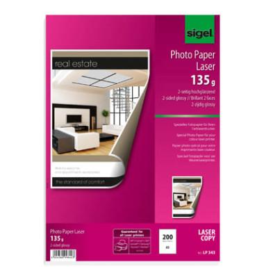 Laser-Fotopapier A3 LP-343 beidseitig glänzend 135g 200 Blatt