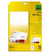 PC Korrespondenz Karten DL weiß 210x99 185g 20xA4 Bg