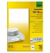 Regalschilder 170g weiß 105x38mm 420 St