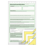 Mietvertrag Gewerberäume A4 hoch 3x2 Blatt