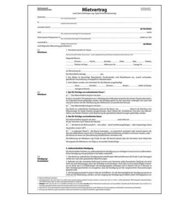 Einheitsmietvertrag 6-seitig A4 3 Blatt
