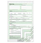 Mietvertrag A4 hoch selbstdurchschreibend 4x2 Blatt