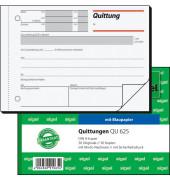 Quittungsblock QU625 mit MwSt. Nachweis A6 quer 2x50 Blatt