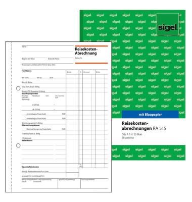Reisekostenabrechnungen RA515 A5 hoch Einzelreisen 50 Blatt