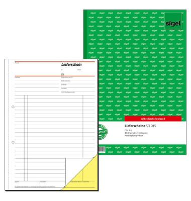 Lieferschein SD015 A4 hoch selbstdurchschreibend 2x40 Blatt