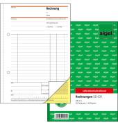 Rechnung SD031 1. und 2. Blatt bedruckt seldbstdurchschreibend A5-hoch 2x 40 Blatt
