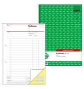 Rechnung SD035 A4 hoch 1. und 2. Blatt bedruckt selbstdurchschreibend 2x40 Blatt
