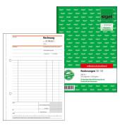Rechnungsbuch SD131 mit fortlaufender Nummerierung A5 hoch selbstdurchschreibend 2 x 50 Blatt