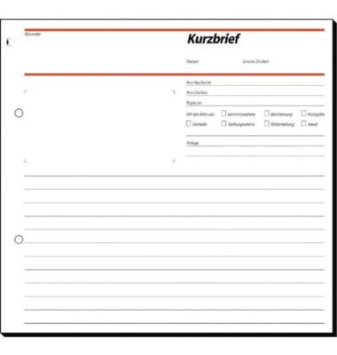 Kurzbrief SD009 A4 2/3 selbstdurchschreibend 50 Blatt