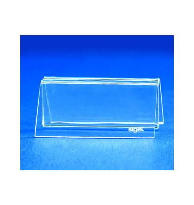 Kartenhalter m.Klemmfunk.Acryl glasklar 100x45mm 2 St
