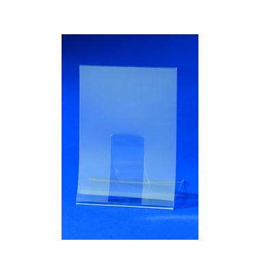 Tischaufsteller TA160 klappbar A4 glasklar für einseitige Präsentation 2 Stück