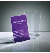 Tischaufsteller TA161 klappbar A5 glasklar für einseitige Präsentation 2 Stück