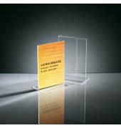 Tischaufsteller TA226 T-Form A6 glasklar für beidseitige Präsentation