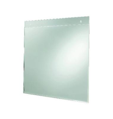 Plakattasche zum Aufhängen glasklar A4 quer Acryl