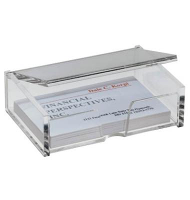 Visitenkarten-Box glasklar f.Ka.90x58mm Acryl