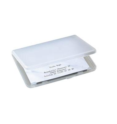 Visitenkarten-Softbox transp. f.Ka.89x57mm Kunstst.