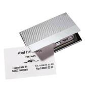 Visitenkarten-Chrombox chrom f.Ka.90x55mm