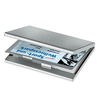 Visitenkarten-Etui Alu matt silber bis 90x58mm Twin