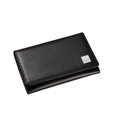 Visitenkartenmappe Torino schwarz 90x85mm Leder