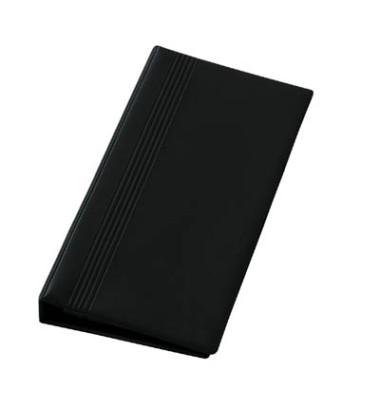 Visitenkartenringbuch A4 schwarz 14,7x26,5cm für 200 Karten