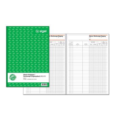 Waren- und Rechnungseingangsbuch WG415 A4 50 Blatt / 100 Seiten