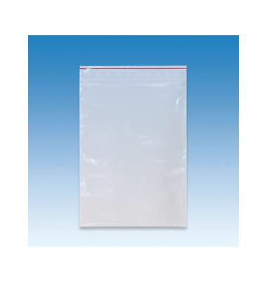 Druckband-Beutel verschließbar transparent  30 x 40 cm