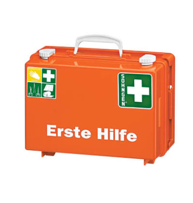 Erste-Hilfe-Koffer SN-CD Norm orange gefüllt DIN 13157