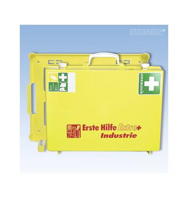Erste-Hilfe-Koffer Extra+ Industrie gelb gefüllt DIN 13157