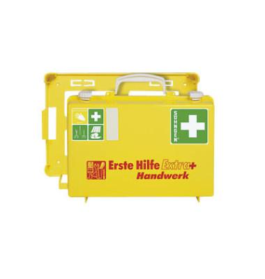 Erste-Hilfe-Koffer Extra+ Handwerk gelb gefüllt DIN 13157