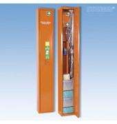Erste-Hilfe-Schrank Safe orange gefüllt mit Trage + Erste-Hilfe-Koffer