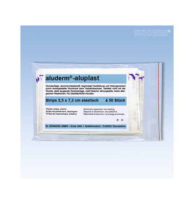 Aluderm Pflaster aluplast elastisch 2,5x7,2cm 50 Stück