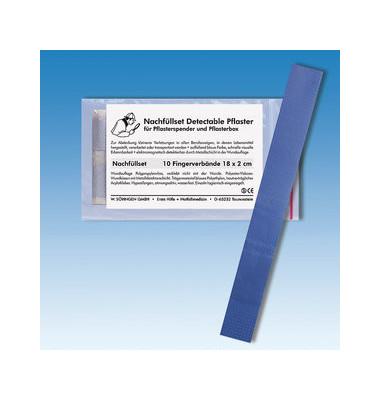 Nachfüllset Fingerverband blau detektierbar 18x2cm 10 Stück