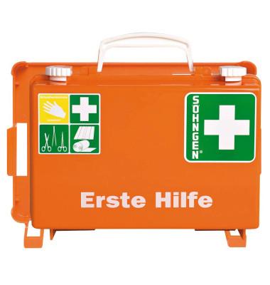 Erste-Hilfe-Koffer QUICK-CD Standard orange gefüllt DIN 13157