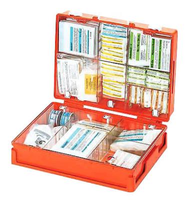 Erste-Hilfe-Koffer MT-CD Standard orange gefüllt DIN 13169