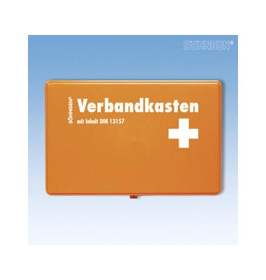 Verbandkasten Kiel orange gefüllt DIN 13157