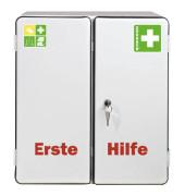 Erste-Hilfe-Schrank Rom weiß gefüllt DIN 13169