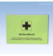 Verbandbuch A5-quer kartoniert grün 32 Seiten