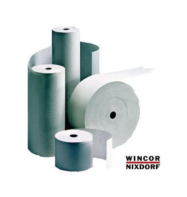 Kassenrollen 82mm x 300m x 25,4mm mit Steuermarke weiß 4er Pack