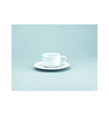 Kaffetasse Joker 180ml weiß Porzellan stapelbar