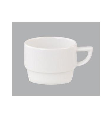 Kaffeetasse Premiere 180ml weiß Porzellan stapelbar 6 Stück