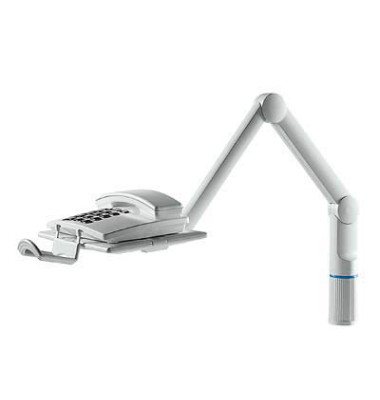 Telefonschwenkarm TalkMaster Platte 26 x 17cm lichtgrau