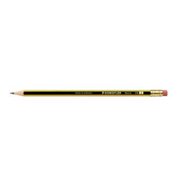 Bleistifte HB mit Gummitip Noris