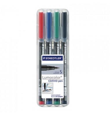 CD/DVD/BlueRay-Marker 310 4er-Etui farbig sortiert 0,4 mm